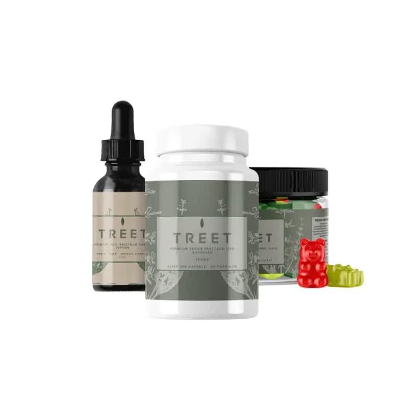 TREET CBD Essentials Saver Bundle – CBD Gummies, CBD Oil, CBD Capsules